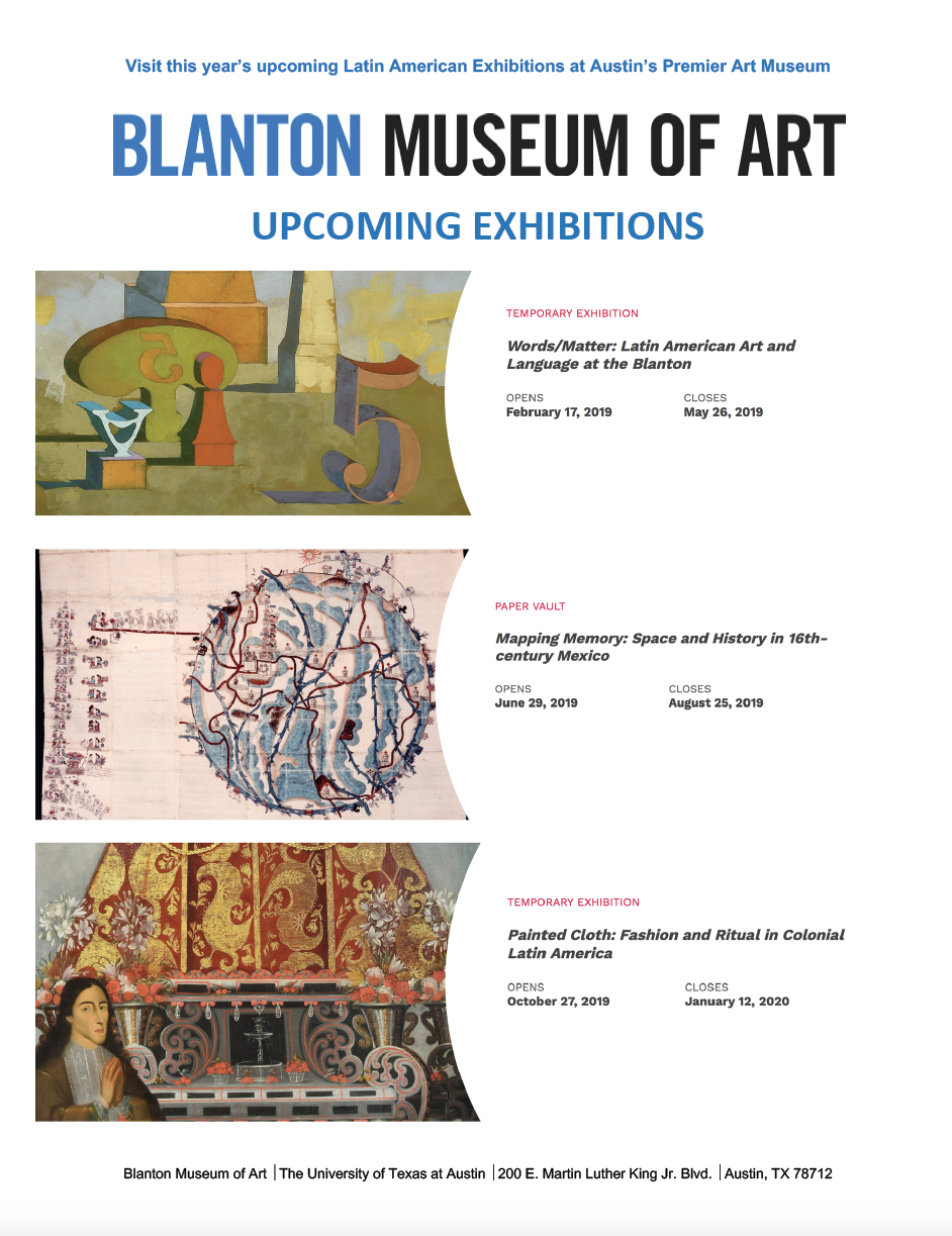 Blanton Upcoming Latin America Exhibits 2019