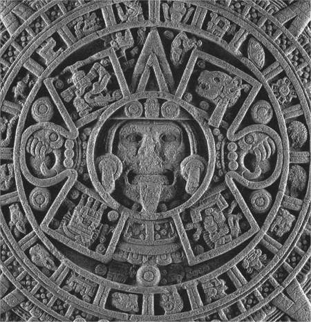 Detail of the Aztec Calendar Stone