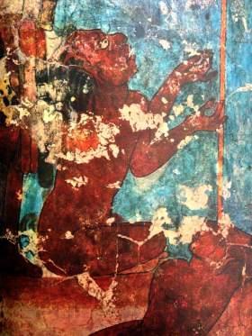 Sacrificial victim from the Bonampak murals - 2015 Maya Meetings