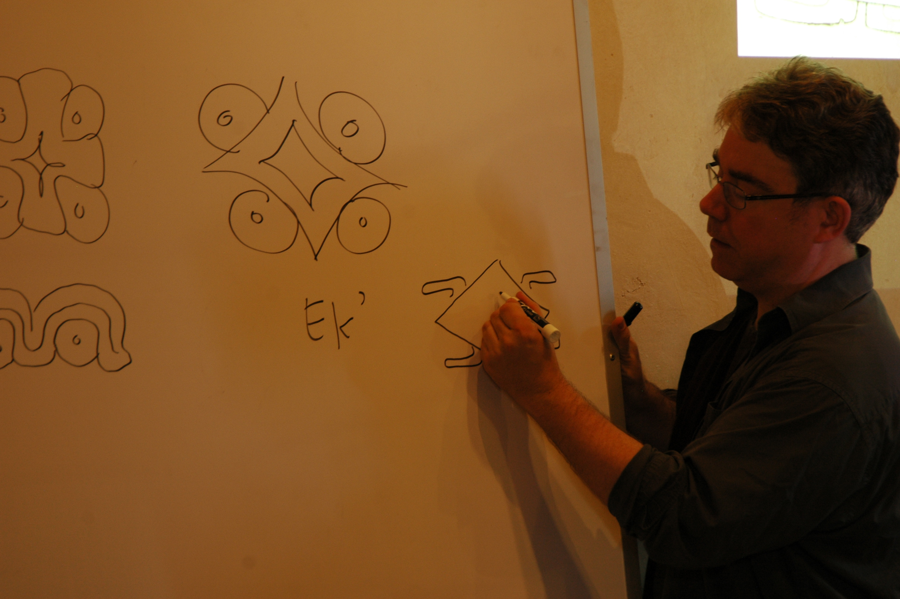 David Stuart leading an Advanced Hieroglyphs Workshop